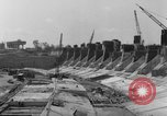 Image of dam under construction United States USA, 1956, second 56 stock footage video 65675070983