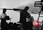 Image of First test flight of the Douglas F5D Skylancer aircraft California USA, 1956, second 2 stock footage video 65675070984