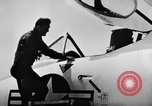 Image of First test flight of the Douglas F5D Skylancer aircraft California USA, 1956, second 6 stock footage video 65675070984