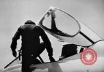 Image of First test flight of the Douglas F5D Skylancer aircraft California USA, 1956, second 9 stock footage video 65675070984