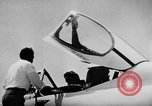 Image of First test flight of the Douglas F5D Skylancer aircraft California USA, 1956, second 16 stock footage video 65675070984