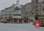 Image of German prisoners being assembled at Town square Linz Austria, 1945, second 14 stock footage video 65675070991