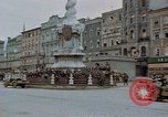 Image of German prisoners being assembled at Town square Linz Austria, 1945, second 15 stock footage video 65675070991
