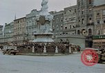 Image of German prisoners being assembled at Town square Linz Austria, 1945, second 16 stock footage video 65675070991