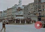 Image of German prisoners being assembled at Town square Linz Austria, 1945, second 18 stock footage video 65675070991