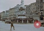 Image of German prisoners being assembled at Town square Linz Austria, 1945, second 19 stock footage video 65675070991