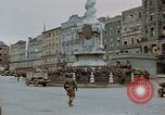 Image of German prisoners being assembled at Town square Linz Austria, 1945, second 20 stock footage video 65675070991