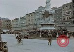 Image of German prisoners being assembled at Town square Linz Austria, 1945, second 22 stock footage video 65675070991