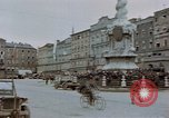 Image of German prisoners being assembled at Town square Linz Austria, 1945, second 23 stock footage video 65675070991