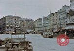 Image of German prisoners being assembled at Town square Linz Austria, 1945, second 27 stock footage video 65675070991