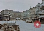 Image of German prisoners being assembled at Town square Linz Austria, 1945, second 28 stock footage video 65675070991