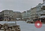 Image of German prisoners being assembled at Town square Linz Austria, 1945, second 31 stock footage video 65675070991