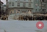 Image of German prisoners being assembled at Town square Linz Austria, 1945, second 36 stock footage video 65675070991