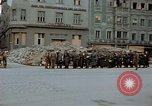 Image of German prisoners being assembled at Town square Linz Austria, 1945, second 37 stock footage video 65675070991