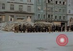 Image of German prisoners being assembled at Town square Linz Austria, 1945, second 38 stock footage video 65675070991