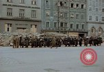 Image of German prisoners being assembled at Town square Linz Austria, 1945, second 39 stock footage video 65675070991