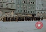 Image of German prisoners being assembled at Town square Linz Austria, 1945, second 40 stock footage video 65675070991