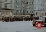 Image of German prisoners being assembled at Town square Linz Austria, 1945, second 41 stock footage video 65675070991