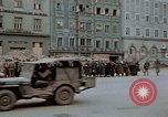Image of German prisoners being assembled at Town square Linz Austria, 1945, second 42 stock footage video 65675070991