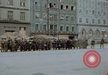 Image of German prisoners being assembled at Town square Linz Austria, 1945, second 43 stock footage video 65675070991