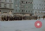 Image of German prisoners being assembled at Town square Linz Austria, 1945, second 44 stock footage video 65675070991