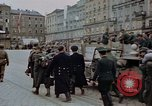 Image of German prisoners being assembled at Town square Linz Austria, 1945, second 46 stock footage video 65675070991