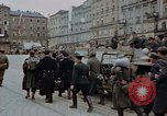 Image of German prisoners being assembled at Town square Linz Austria, 1945, second 47 stock footage video 65675070991