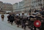 Image of German prisoners being assembled at Town square Linz Austria, 1945, second 49 stock footage video 65675070991