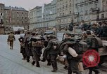 Image of German prisoners being assembled at Town square Linz Austria, 1945, second 51 stock footage video 65675070991