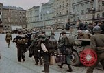 Image of German prisoners being assembled at Town square Linz Austria, 1945, second 52 stock footage video 65675070991