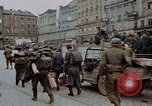 Image of German prisoners being assembled at Town square Linz Austria, 1945, second 53 stock footage video 65675070991