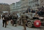 Image of German prisoners being assembled at Town square Linz Austria, 1945, second 54 stock footage video 65675070991