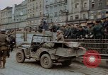 Image of German prisoners being assembled at Town square Linz Austria, 1945, second 56 stock footage video 65675070991