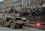 Image of German prisoners being assembled at Town square Linz Austria, 1945, second 57 stock footage video 65675070991