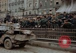 Image of German prisoners being assembled at Town square Linz Austria, 1945, second 58 stock footage video 65675070991