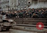 Image of German prisoners being assembled at Town square Linz Austria, 1945, second 59 stock footage video 65675070991