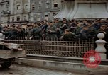 Image of German prisoners being assembled at Town square Linz Austria, 1945, second 60 stock footage video 65675070991