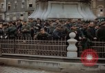 Image of German prisoners being assembled at Town square Linz Austria, 1945, second 62 stock footage video 65675070991