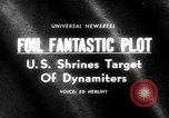 Image of plot to blow up U.S. landmarks uncovered United States USA, 1965, second 20 stock footage video 65675070998
