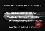 Image of new world speed record Daytona Beach Florida USA, 1932, second 6 stock footage video 65675071112