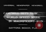 Image of new world speed record Daytona Beach Florida USA, 1932, second 10 stock footage video 65675071112