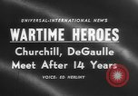 Image of Churchill and De Gaulle meeting Paris France, 1958, second 3 stock footage video 65675071114