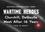 Image of Churchill and De Gaulle meeting Paris France, 1958, second 4 stock footage video 65675071114