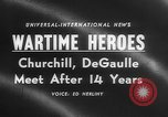 Image of Churchill and De Gaulle meeting Paris France, 1958, second 5 stock footage video 65675071114