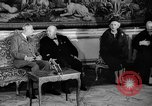 Image of Churchill and De Gaulle meeting Paris France, 1958, second 62 stock footage video 65675071114