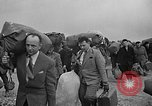 Image of Two USAF C-124 Globemaster aircraft at Orly field in France Paris France, 1952, second 44 stock footage video 65675071122
