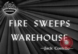 Image of Lee Brothers Warehouse fire New York City New York City USA, 1945, second 2 stock footage video 65675071148