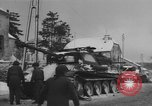 Image of US Soldiers examine damaged US M4 and German Panther tank Sterpigny Belgium, 1945, second 42 stock footage video 65675071156