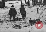 Image of Bodies of dead German soldiers in snow Ambleve Belgium, 1945, second 20 stock footage video 65675071159