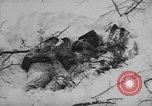 Image of Bodies of dead German soldiers in snow Ambleve Belgium, 1945, second 34 stock footage video 65675071159